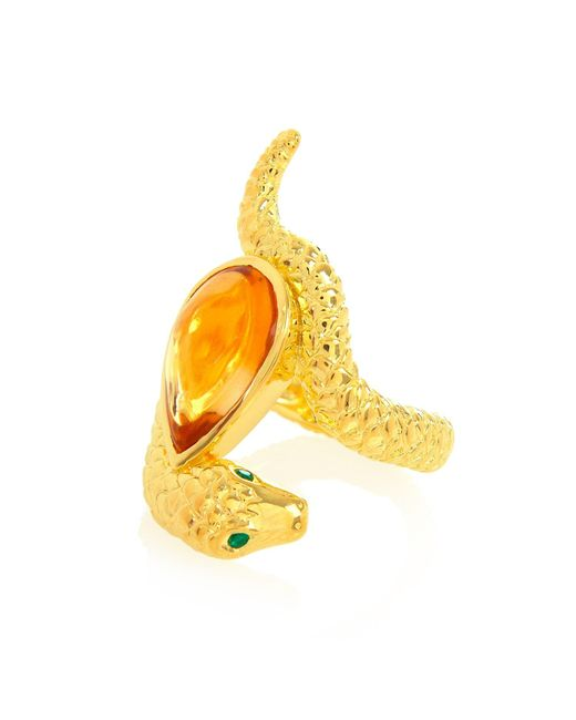 Alexandra Alberta - Metallic Arizona Citrine Ring - Lyst