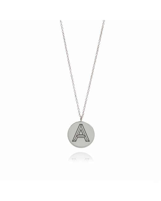 Myia Bonner | Metallic Silver Facett Initial Necklace A-z | Lyst