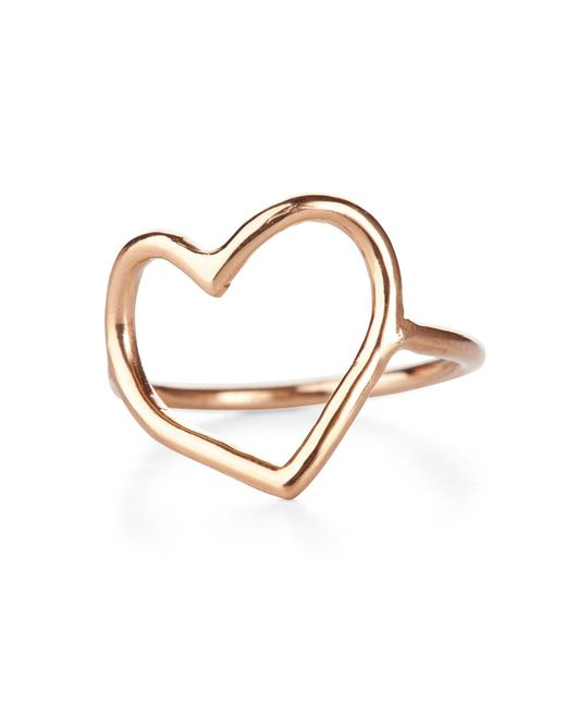Chupi - Metallic My Heart Is Open Ring Solid Gold - Lyst