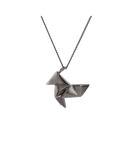 lyst origami jewellery cuckoo necklace sterling silver