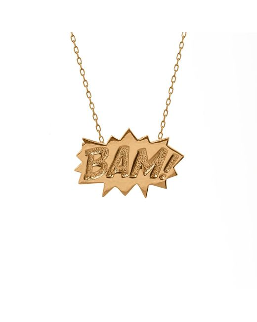 Edge Only | Metallic Bam Pendant Large Long In Gold | Lyst
