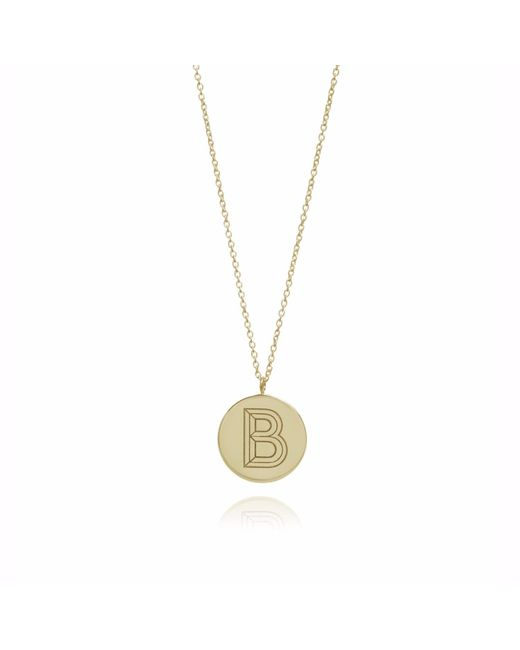 Myia Bonner - Metallic Gold B Facett Initial Necklace - Lyst