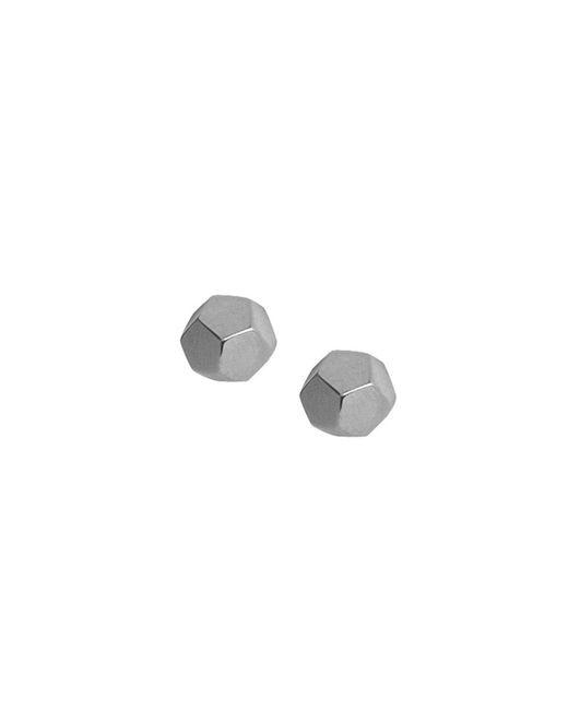 Matthew Calvin - Metallic Octagon Bolt Studs Silver - Lyst