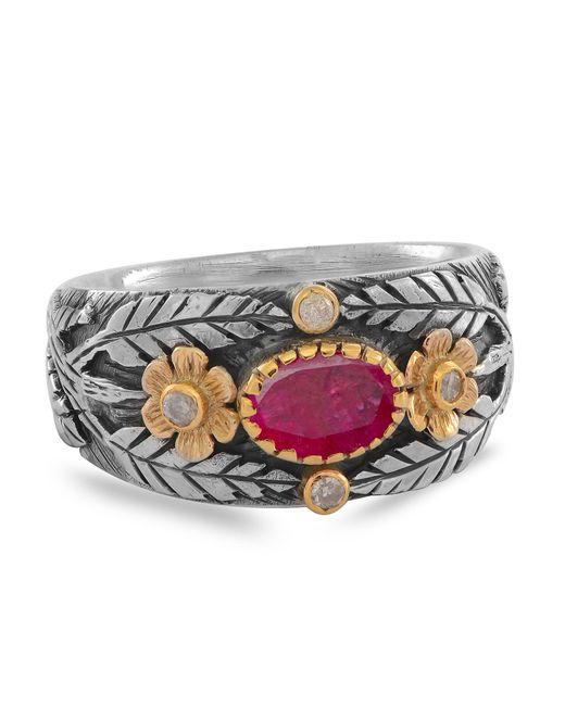 Emma Chapman Jewels - Red Esmeralda Ruby Diamond Ring - Lyst