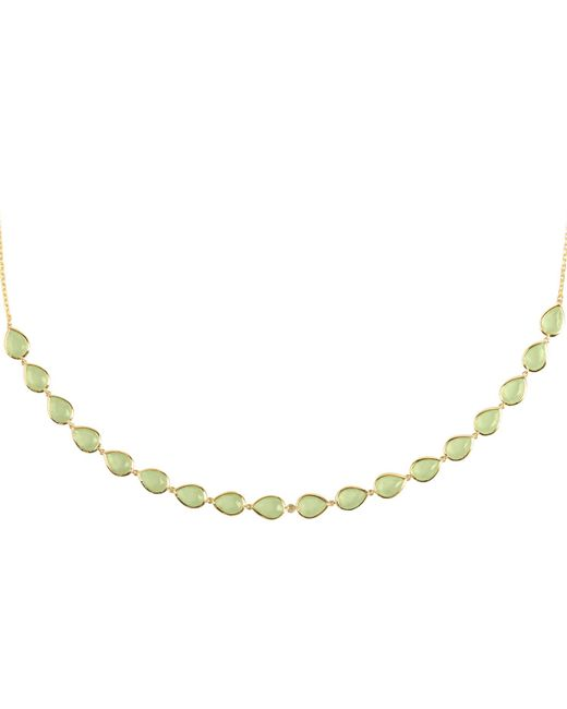 Latelita London - Metallic Verona Gemstone Strand Necklace Gold Aqua Chalcedony - Lyst