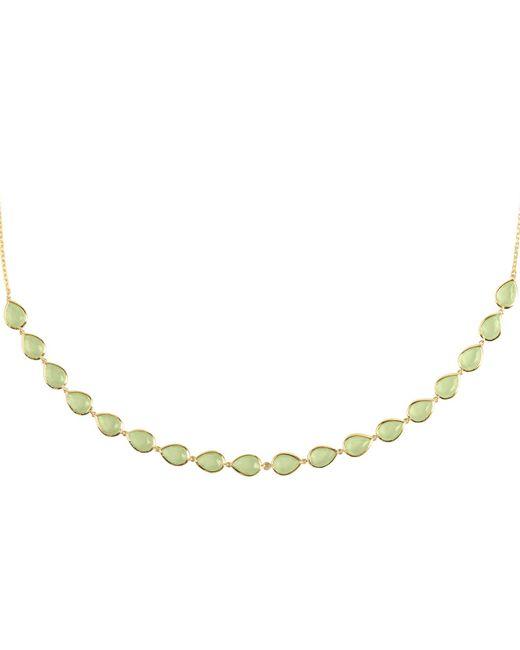 Latelita London - Metallic Verona Gemstone Strand Necklace Gold Aqua Chalcedony - Lyst