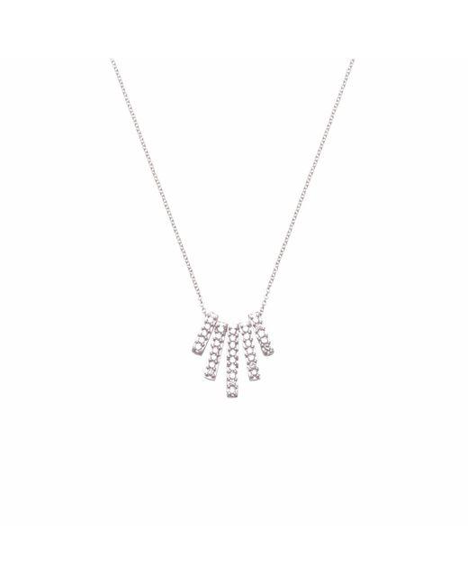 Ri Noor | Metallic Five Diamond Bar Necklace | Lyst
