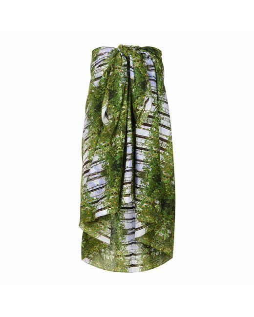 Pam Weinstock London - Green Bella Toscana Cotton Sarong - Lyst