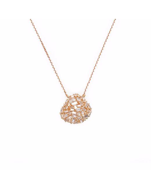 Ri Noor - Metallic Organic Shaped Baguette Diamond Necklace - Lyst