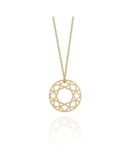 Myia Bonner - Metallic Small Gold Brilliant Diamond Necklace - Lyst