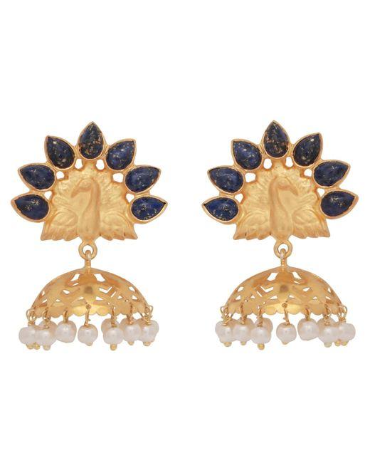 Carousel Jewels | Multicolor Lapis Peacock Chandelier Earrings | Lyst