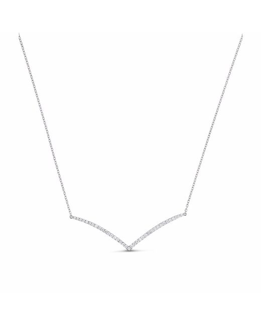 Cosanuova - Metallic V Diamond Necklace 18k White Gold - Lyst
