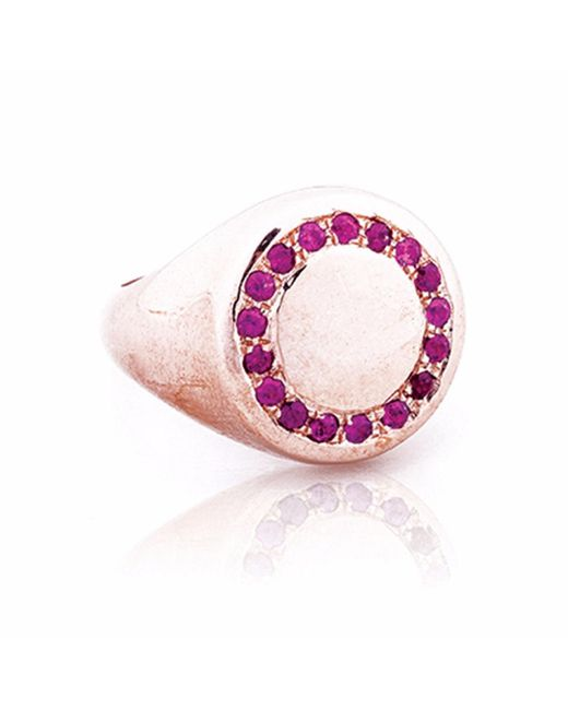 Sadekar Jewellery | Pink A Knight Ring With Ruby | Lyst