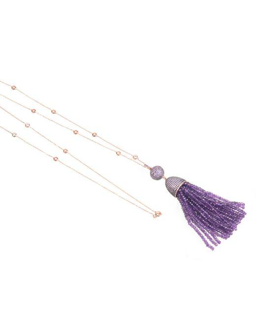 Latelita London | Multicolor Tassel Ball Necklace Amethyst | Lyst