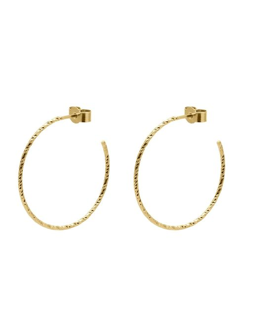 Myia Bonner - Metallic Gold Large Diamond Hoop Earrings - Lyst