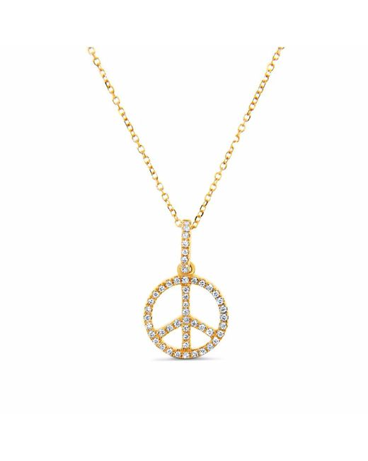 Cosanuova - Metallic Peace Sign 18k Yellow Gold - Lyst