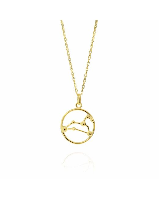 Yasmin Everley Jewellery - Metallic Leo Astrology Necklace In 9ct Gold - Lyst