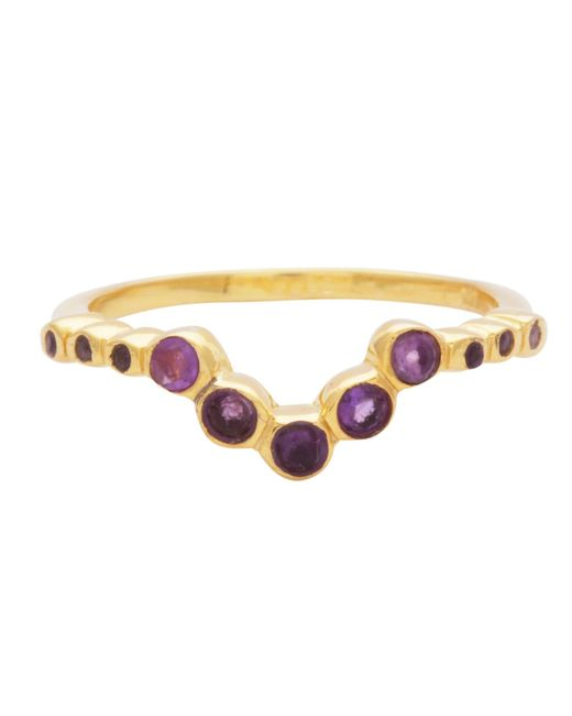 Carousel Jewels - Metallic Amethyst V Shaped Ring - Lyst