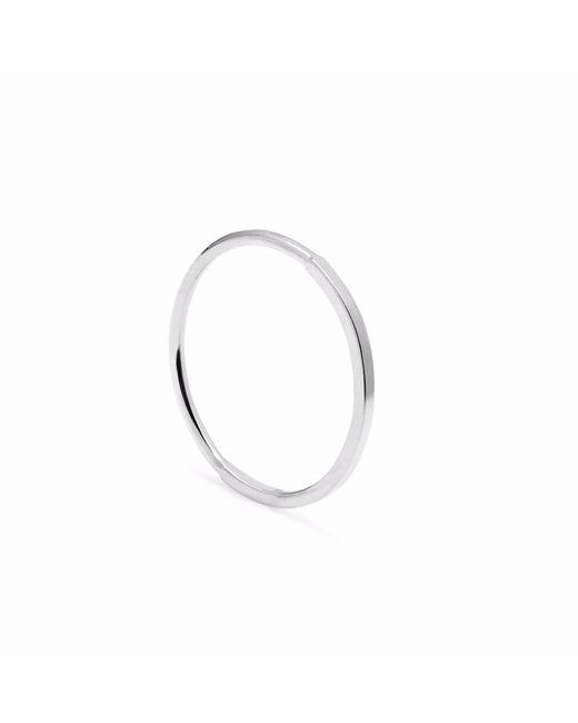 Myia Bonner - Metallic Silver Square & Round Skinny Stacking Ring - Lyst