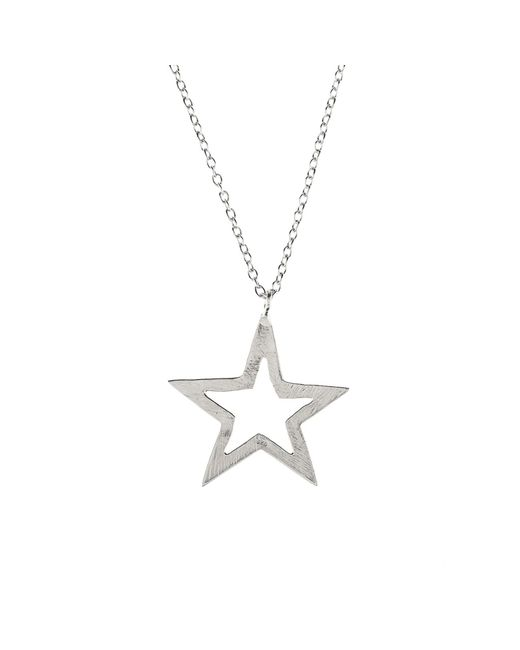 Latelita London | Metallic Cosmic Open Star Necklace Silver | Lyst