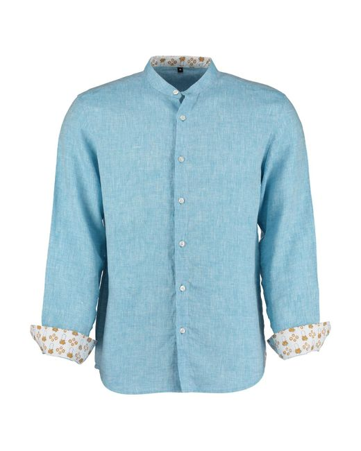 Tobias Clothing - Goa Light Blue Linen Shirt for Men - Lyst