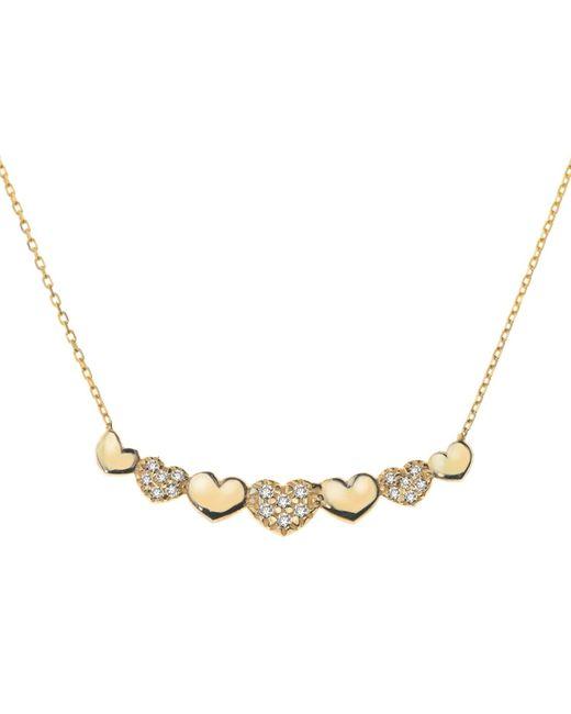 Talia Naomi | Metallic Forget Me Not Necklace | Lyst