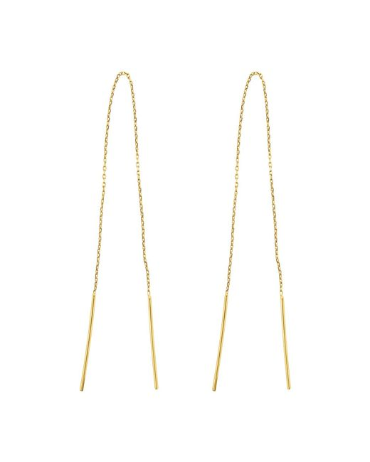Talia Naomi | Metallic Infinity Chain Earrings | Lyst