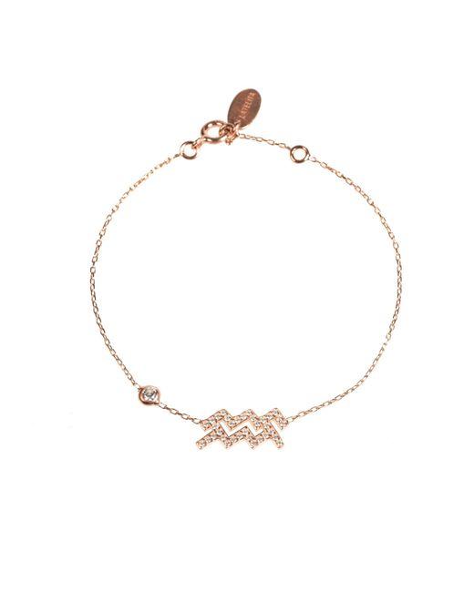 Latelita London | Metallic Zodiac Bracelet Rosegold Aquarius | Lyst