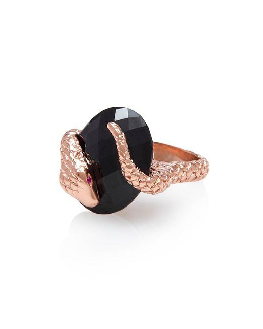Alexandra Alberta | Black Gaia Onyx Ring | Lyst