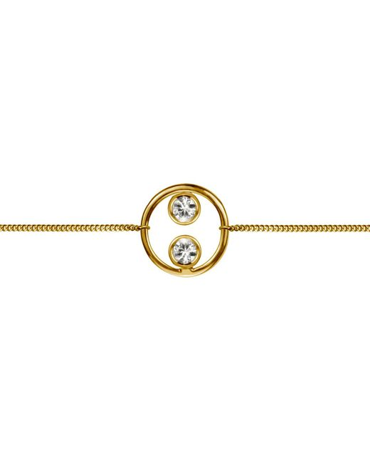 Lee Renee - Metallic Halo Bracelet Gold Vermeil & White Sapphires - Lyst