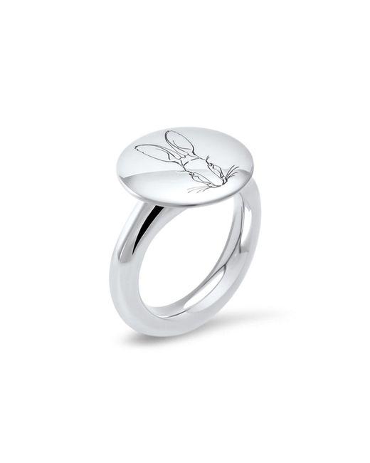 Hargreaves Stockholm | Metallic Bracteate Silver Signet Ring | Lyst