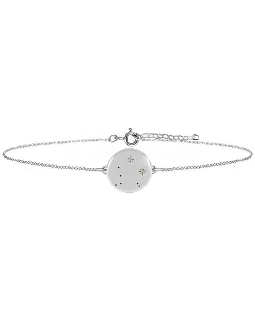 No 13 - Multicolor Libra Zodiac Constellation Bracelet Diamonds & Silver - Lyst