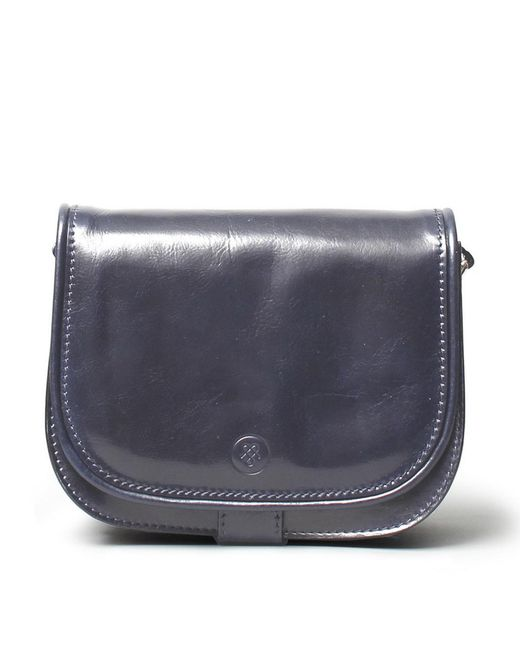 Maxwell Scott Bags | Blue Luxury Italian Leather Women's Saddlebag Purse Medium Medolla M Navy | Lyst