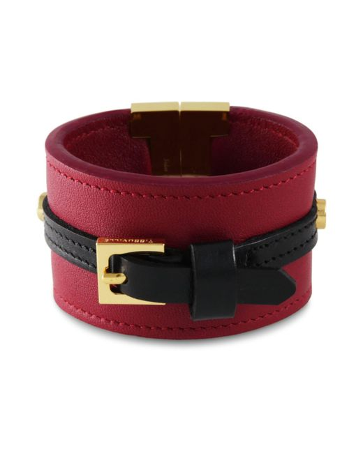 Tissuville - Red Skansen Bracelet Garnet Gold - Lyst