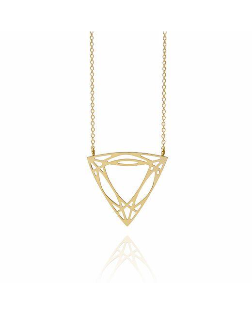 Myia Bonner - Metallic Gold Trillion Diamond Necklace - Lyst