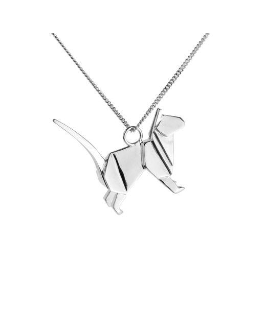 Origami Jewellery | Metallic Cat Necklace Silver | Lyst
