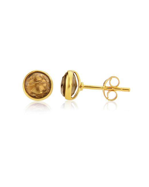 Auree Jewellery - Metallic Savanne Gold Vermeil & Smokey Quartz Stud Earrings - Lyst