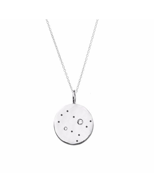 Yvonne Henderson Jewellery - Metallic Gemini Constellation Necklace With White Sapphires Silver - Lyst