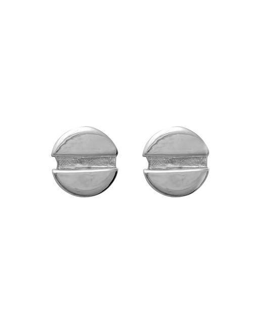 Edge Only - Metallic Flat Head Screw Earrings - Lyst