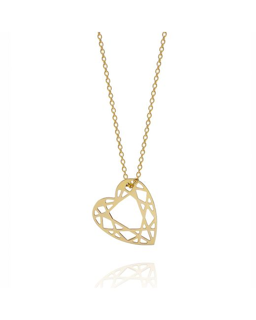 Myia Bonner - Metallic Gold Small Heart Diamond Necklace - Lyst