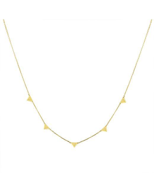 Talia Naomi   Metallic Equalatrial Dreams Triangle Necklace   Lyst