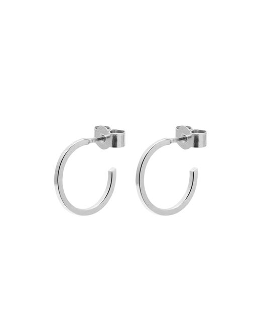 Myia Bonner - Metallic Silver Mini Hoop Earrings - Lyst