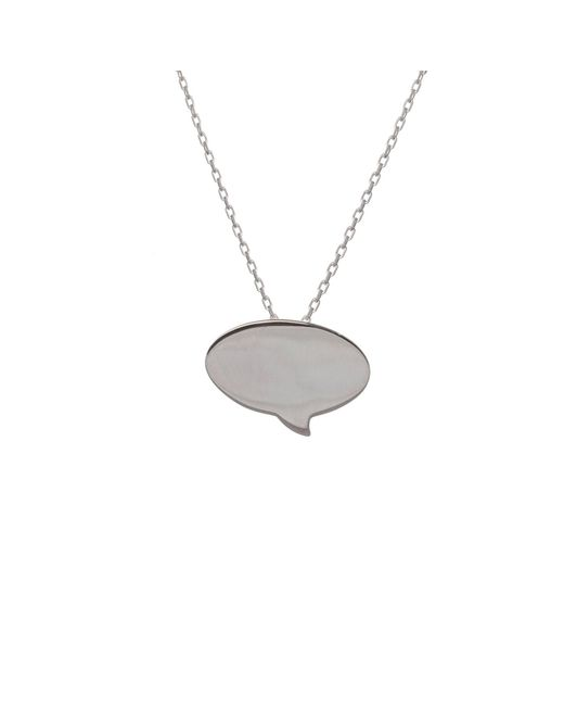 Edge Only - Metallic Speech Bubble Pendant Silver - Lyst