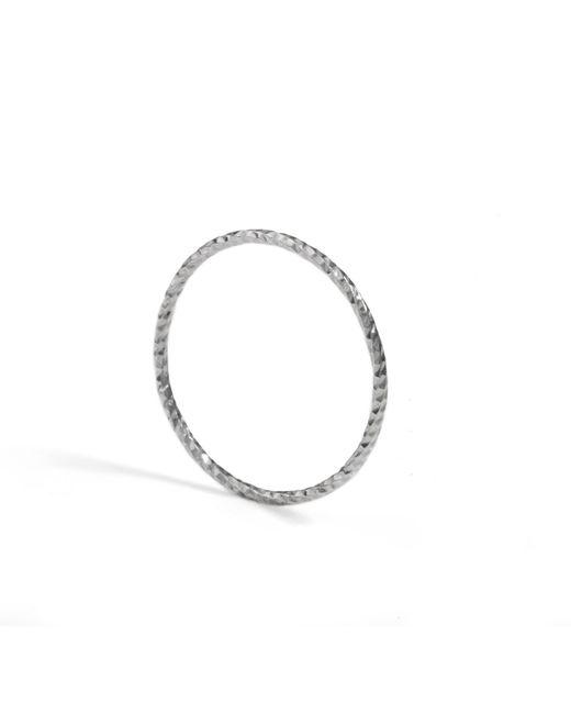 Myia Bonner | Metallic Silver Ultra Skinny Diamond Stacking Ring | Lyst