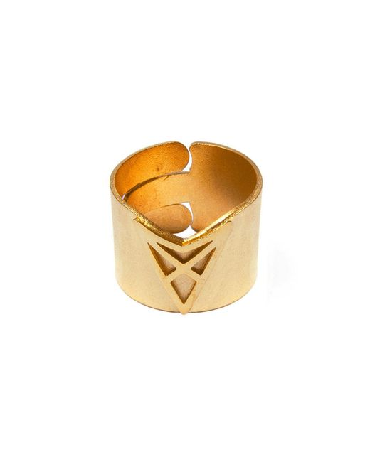 Dutch Basics | Metallic Hef Adjustable Broad Ring Gold | Lyst
