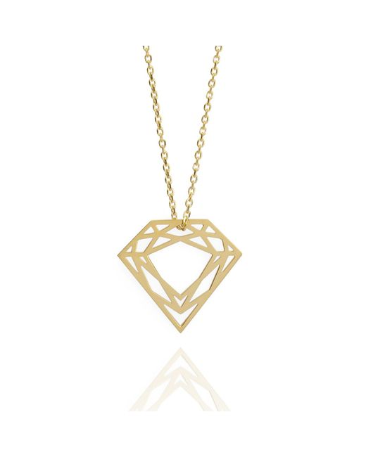 Myia Bonner - Metallic 9k Gold Classic Diamond Necklace - Lyst