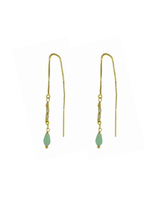 Yvonne Henderson Jewellery - Metallic Amazonite Pull Through Feature Drop Earrings - Lyst