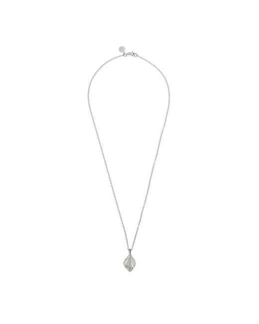 Chupi - Metallic Tiny Swan Feather Necklace Silver - Lyst