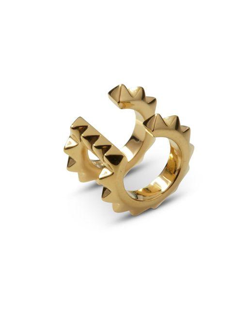 Kasun | Metallic Croc Double Ear Cuff Yellow Gold | Lyst
