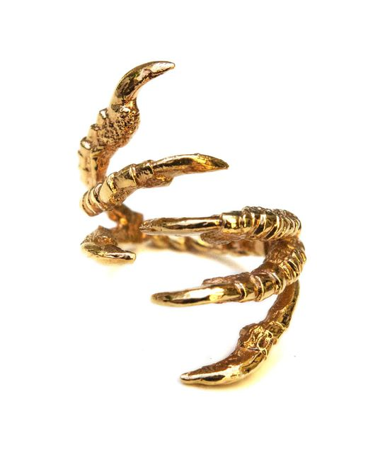Tessa Metcalfe - Metallic Gold Pigeon Grasp Ring - Lyst